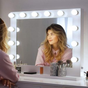 Chende Large Vanity Mirror with Lights